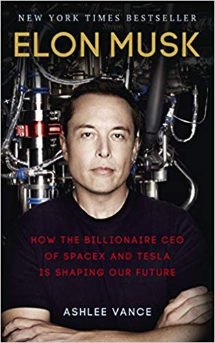 Elon Musk by Ashlee Vance book cover