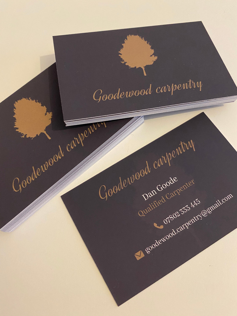 Goodewood Carpentry Business Cards