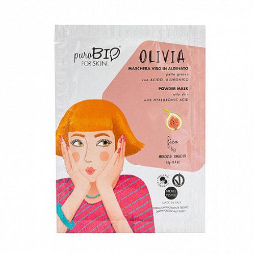 """PuroBio Альгинатная маска """"Olivia, инжир"""" для жирной кожи"""