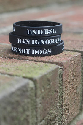 Ban Ignorance Not Dogs Wristband