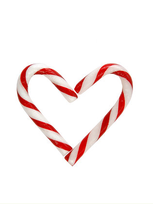 Heart Candy Cane Tree Decoration