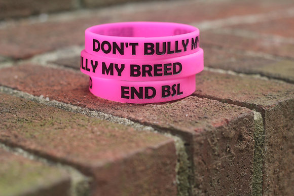 Don't Bully My Breed Wristband