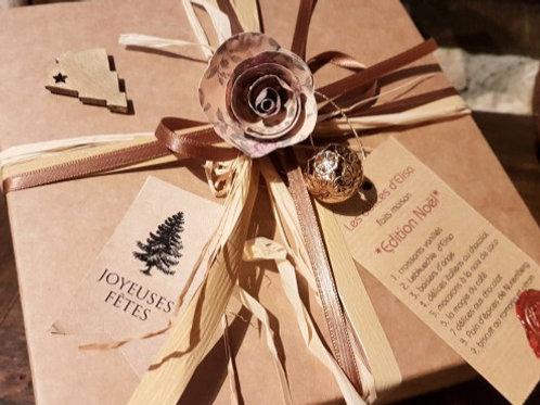 Gourmandises de Noël environ 280g (boîte décorée beige)