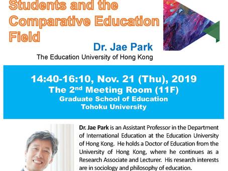 Nov.21, 2019 Open lecture by Dr. Jae Park