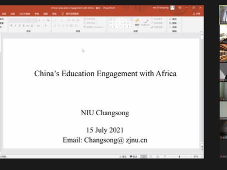 Lecture on China's Education Engagement with Africa by Prof. Changsong Niu