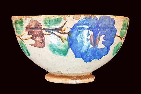 Tazon con flor azul (bowl) - Mayolica