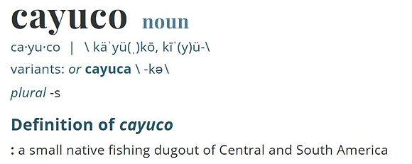 cayuco definition.JPG