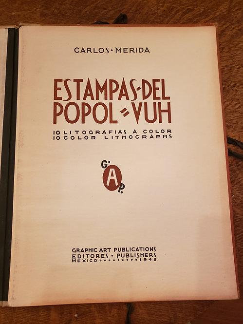 """""""Estampas del Popol Vuh"""" by Carlos Merida."""