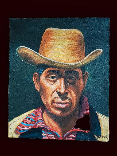 Campesino - oil painting by Juan Sisay