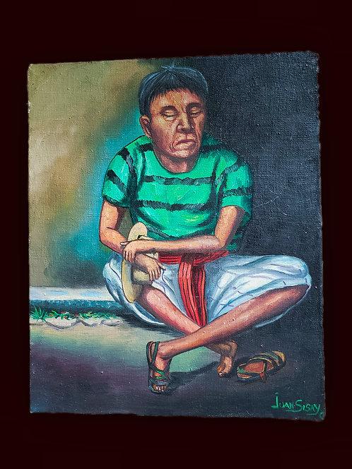 Descanzando - oil painting by Juan Sisay