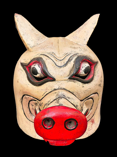 Topeng full head mask - Pig or Babi