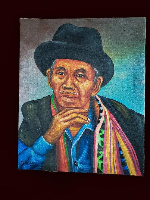 Viejo - oil painting by Juan Sisay