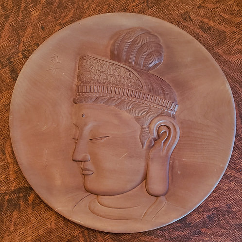 Wood plate of Kannon Bodhisattva ' Japan
