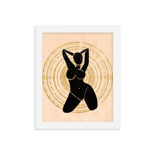 Silhouette Goddess (FRAMED)