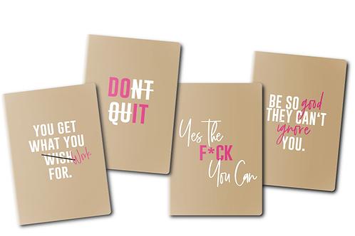 Bossy Set of 4 journals
