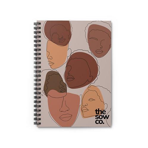 Face of Femme Spiral Notebook