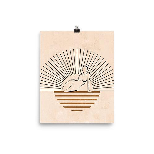 Silhouette Goddess Print