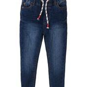 Παντελόνι τζιν με κορδόνι στην μέση. MINOTI BLUE DENIM JEAN 7-13 ετών.