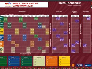 CAN 2021: le calendrier des match désormais disponible