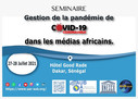Agenda Programme: gestion de la COVID-19 dans les médias africains