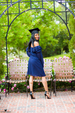 college graduation outdoors portrait