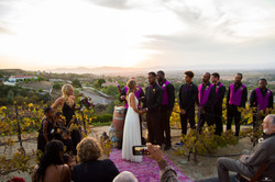 Sunset Wedding Ceremony Photography