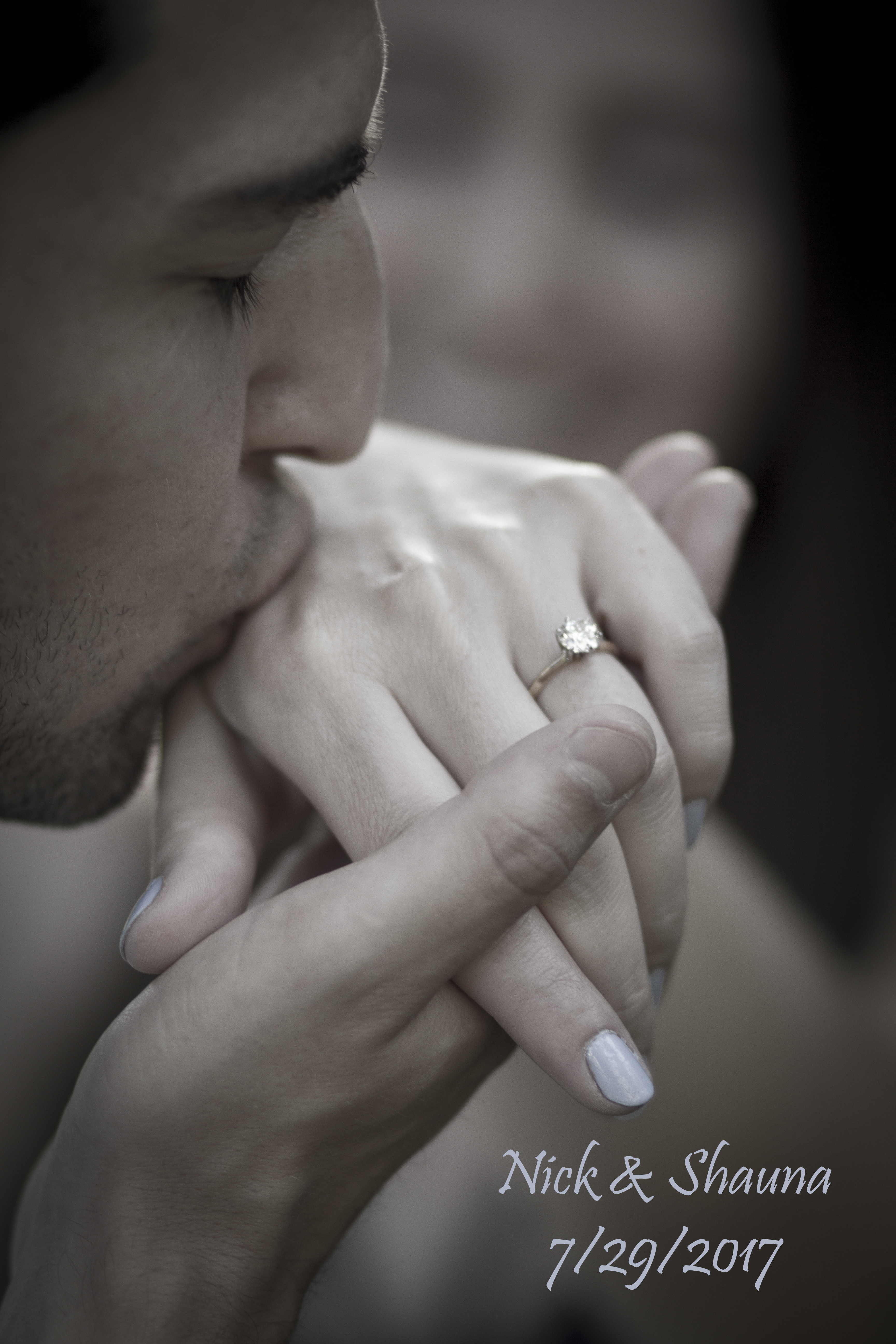 engagement photography ring picture