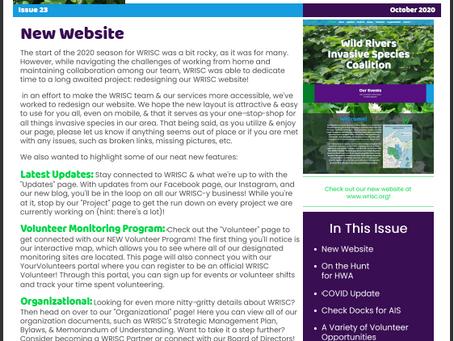 October 2020 Wild Rivers ISC Newsletter