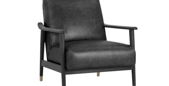 Kellam Chair Black Leather