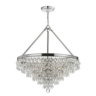 Calypso 8 lights Chandelier Chrome