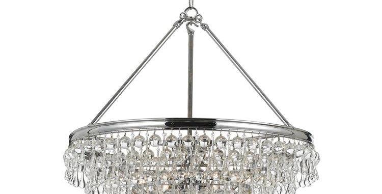 Calypso 8 lights Chandelier Chrome
