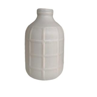 Grid Matte Grey Vase