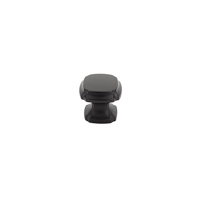 Empire Square Knob Matte Black