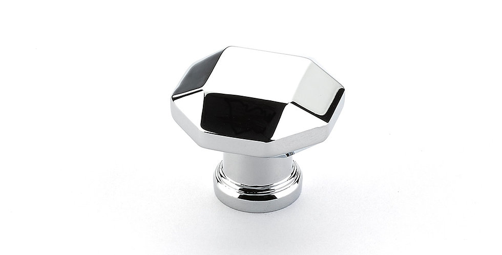 Menlo Faceted Knob Polished Chrome