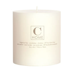 4'' x 4'' Ivory Candle