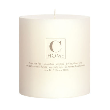 4'' x 4'' Ivory Candle
