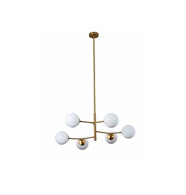 Brass & Globe Ceiling Fixture