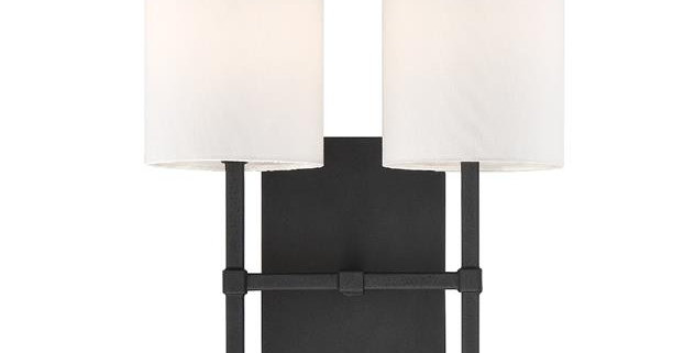 Veronica 2 Lights Wall Mount Black