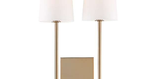 Lena 2 Lights Wall Mount Brass