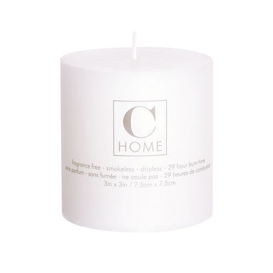 3'' x 3'' White Candle