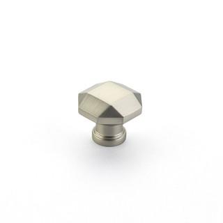Menlo Faceted Knob Satin Nickel