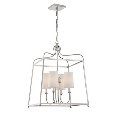 Sylvan Chandelier Polished Nickel