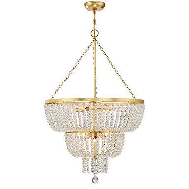 Rylee 8 Lights Chandelier Gold