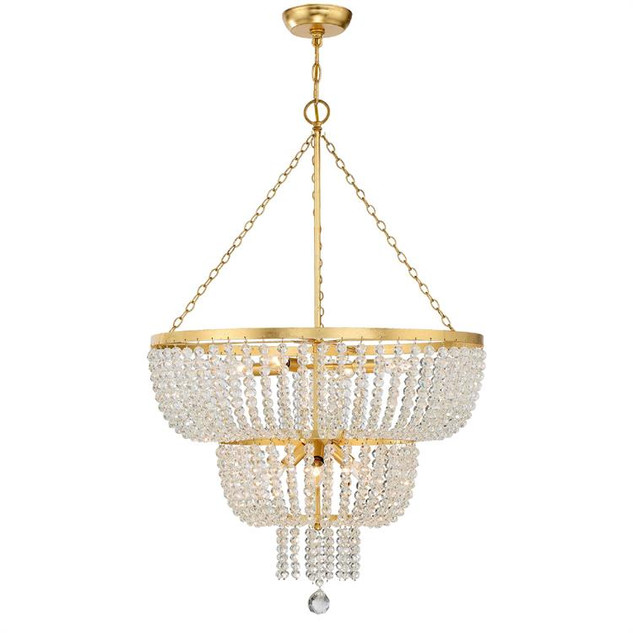 Rylee 8 Lights Chandelier Gold