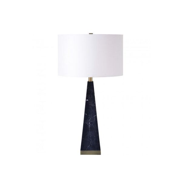 Triangle Marble Black Table lamp