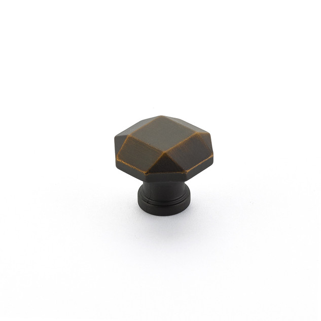 Menlo Faceted Knob Ancient Bronze