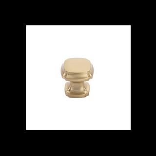 Empire Square Knob Satin Brass