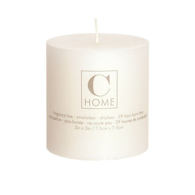 3'' x 3'' Ivory Candle