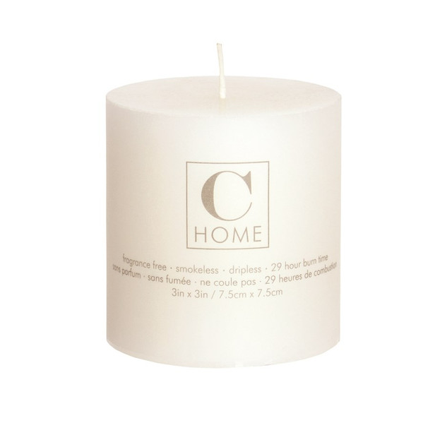 3'' x 3'' Ivory Candle