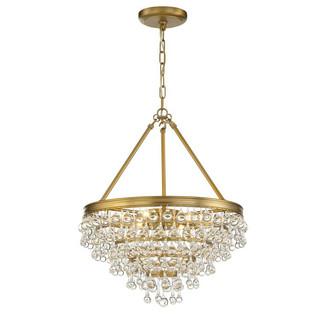Calypso 6 lights Chandelier Gold